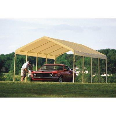 (ShelterLogic 12 x 26- Feet Canopy 2- Inch 5-Rib Frame, Tan Cover)