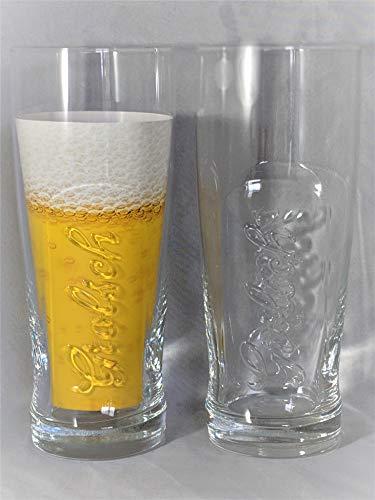 Grolsch Premium Lager Signature 3D Jazz Glass | Set of 2 Glasses