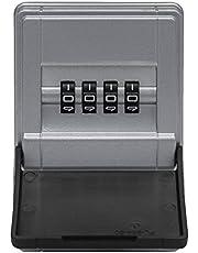 Abus 77454 Sleutelkluis met beugelhouder, individueel instelbare cijfercode, weerbestendig, geschikt voor sleutels en plastic kaarten, zwart