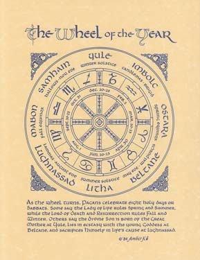 Pagan the Wheel Of The Year  8 1/2'' x 11'' Print