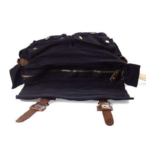 Kattee tipo Bandolera de Hombro bolsas de funda de piel con la escuela cuadro bolso bandolera para negro