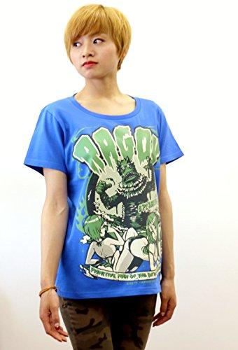 地球防衛軍秘密基地本部 怪獣Tシャツ ラゴン (ミディアムブルー) サイズ:S