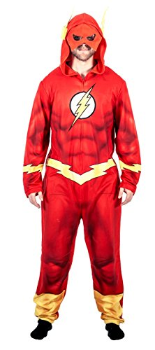 Justice League America The Flash Union Suit Costume Pajama (Adult Large)
