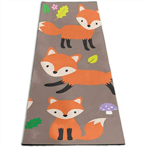 Amazon.com: XUGGL Hit Workout Mat Cute Fox Various Poses ...
