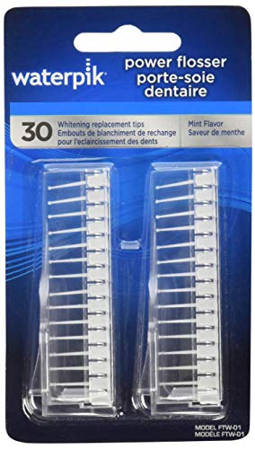 (WaterPik FTW-01 Replacement Whitening 30-Count Flosser Tips for Watepik FLW 110, FLW 220, FLW 310)