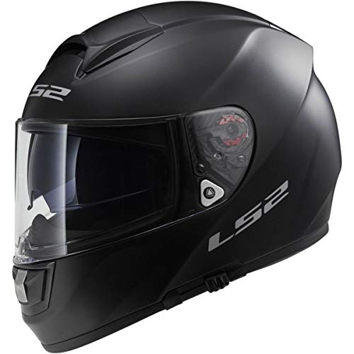LS2 Helmets Citation Solid Full Face Motorcycle Helmet with Sunshield (Matte Black