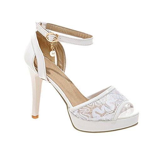 Charm Sandalo Da Donna Con Cinturino Alla Caviglia E Tacco Alto Sandalo Bianco