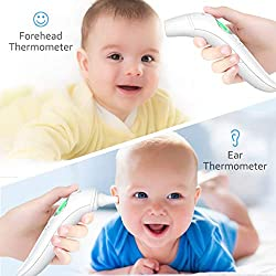?New 2020 Version?Medical Ear Thermometer with Forehead Function, 32 Set Memory Records with Fever Alarm,Digital Infrared Temporal Thermometer for Fever, Instant Accurate Reading for Baby and Adults