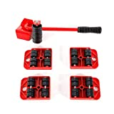 Furniture Lifter, 1 Set Heavy Duty Furniture Mover Lifter Easy Slides Transport 4 Wheeled Hand Tool Set Appliance Roller Suitable for Sofas, Couches and Refrigerators