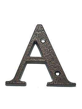 3 120 mm schwarz Hausnummer aus Aluminium