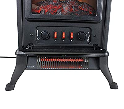 MRT SUPPLY 1000W Electric Infrared 800 Sq Ft Home Stove Fireplace   Black with Ebook