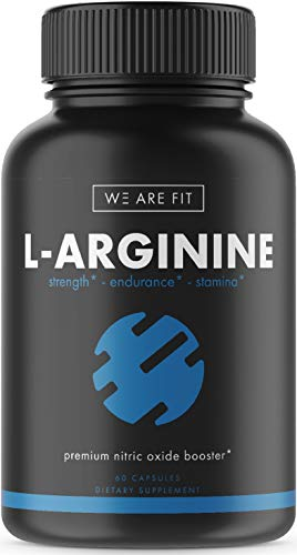 L-Arginine Extra Strength Supplement for Muscle Growth, Endurance, and Energy - Support Nitric Oxide Production and Cardio Health - N.O. Booster with AAKG, L-Citrulline, Beta Alanine, 60 Caps.
