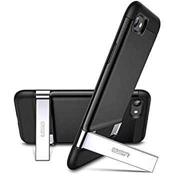pretty nice 73a76 b694a ESR iPhone 8 Case, iPhone 7 Case, Metal Kickstand Case [Vertical and  Horizontal Stand] [Reinforced Drop Protection] Hard PC Back with Flexible  TPU ...