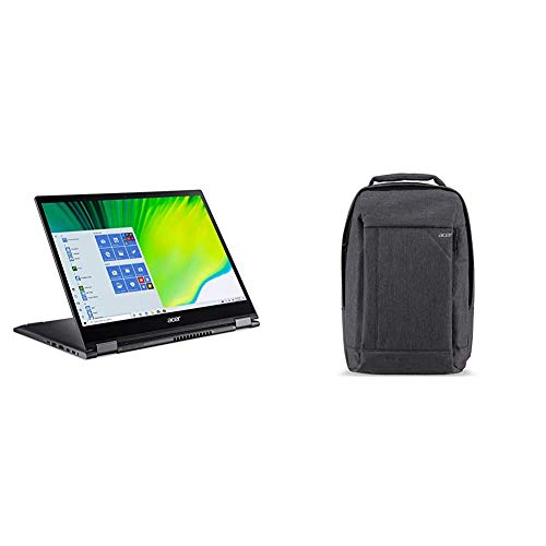 """Acer Spin 5 Convertible Laptop, 13.5"""" 2K 2256 x 1504 IPS Touch, 10th Gen Intel Core i7-1065G7, 16GB LPDDR4X, 512GB NVMe SSD & Acer Travel Laptop Backpack"""