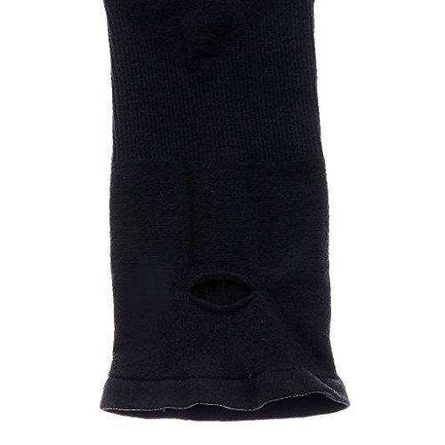 1 Paire Manchettes Couvertures de Bras pour UV Protection Solaire (Noir)