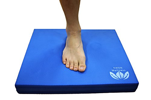 Cheap KWON Wellness Premium Foam Balance Pad, Sweatproof Non-Slip EVA Foam Balance Trainer: Yoga, Fitness, Core Workout, Strength & Stability, Rehab, Therapy, Knee Pad, More (Blue)