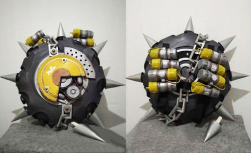 OW JUNKRAT chest weapon and tire Cosplay Prop (Buy Cosplay Weapons)