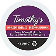 Timothy's French Vanilla Latte Single Serve Keurig Certified Recyclable K-Cup pods for Keurig brewers, 24