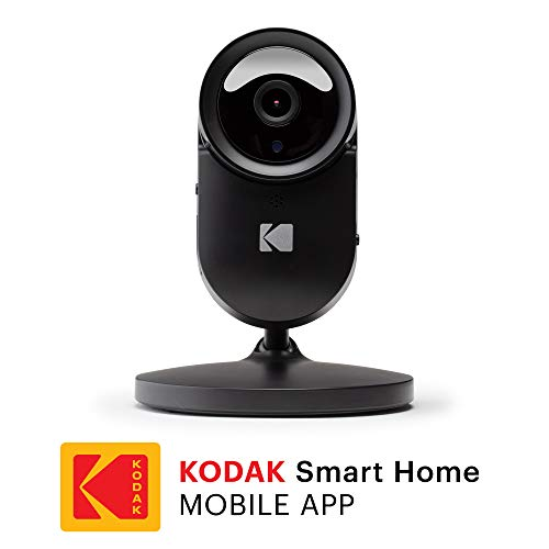 KODAK Cherish F680 Home Security Camera with Mobile App - Full-HD Wireless Security Camera System with Infrared Night-Vision, Battery, Zoom & 120deg View - Surveillance Camera, Indoor WiFi IP Camera