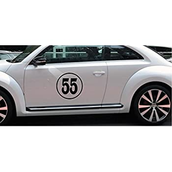 12 custom number classic circle rally car door window racing sticker vinyl decal mini cooper