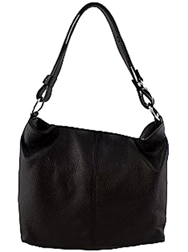 G&G PELLETTERIA - Bolso al hombro de Piel para mujer negro