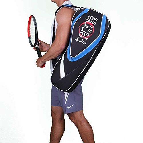 Tennis Express 3 Pack Tennis Combi Bag Black and Blue