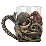 Steampunk Octopus Shot Glasses with Handle