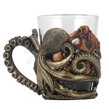 - Steampunk Octopus Shot Glasses with Handle