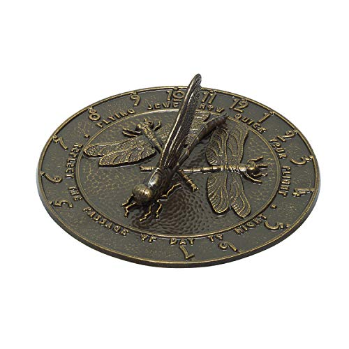 Whitehall Products Dragonfly Sundial, French ()