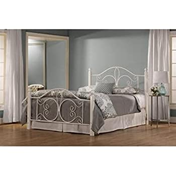 hillsdale ruby queen poster bed in textured white