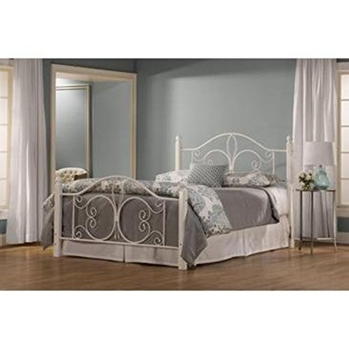 Hillsdale Ruby Queen Poster Bed in Textured (White Wrought Iron Beds)