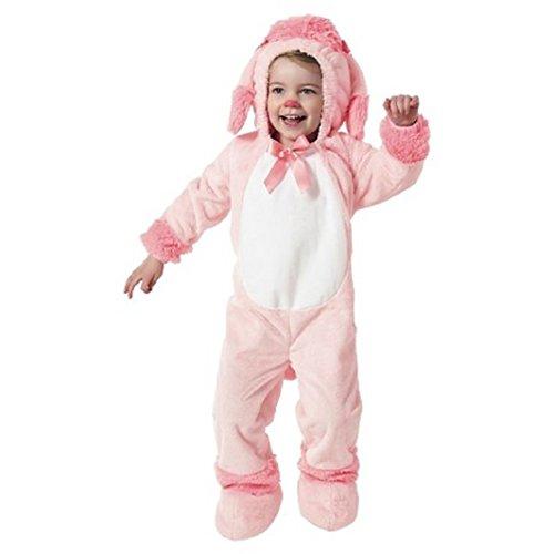 Toddler ~ PINK Poodle Plush Jumpsuit Costume (18-24 MONTHS)