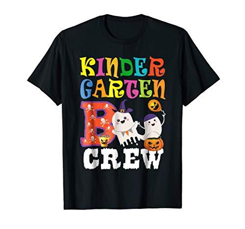 Halloween Kindergarten Boo Crew Shirt Teacher Kid Gift Tee -
