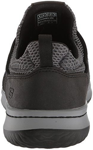 Skechers Mens Sneaker Fit-delson-brewton Nero
