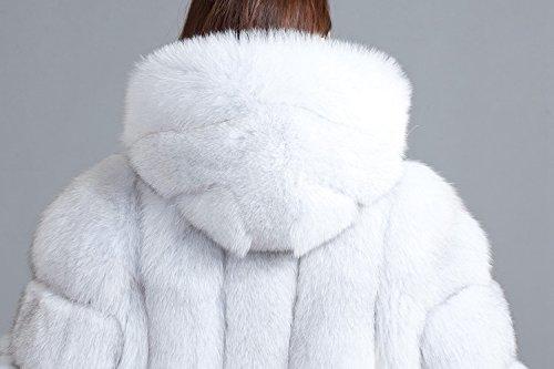 Top Fur Women Hooded Whole Skin Fox Fur Winter Coat Jacket US 12 by TOPFUR (Image #4)