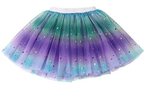 Simplicity Girls Tutu Skirt Purple Rainbow Princess Ballet Toddler Tutu for 2-8 Years
