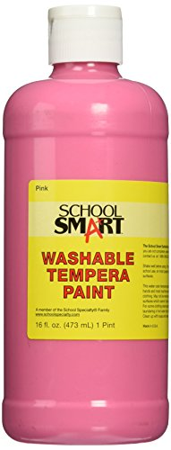 School Smart Washable Tempera Paint - Pint - Pink