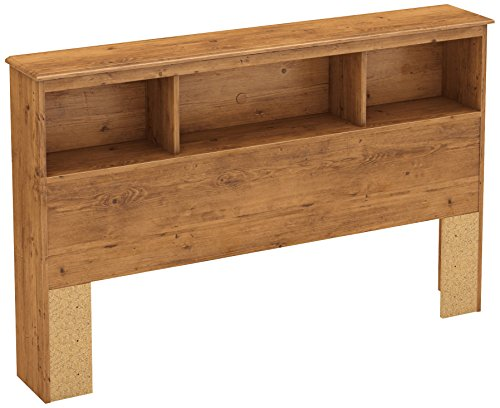 (South Shore Little Treasures Bookcase Headboard with Storage, Full 54-inch, Country Pine)