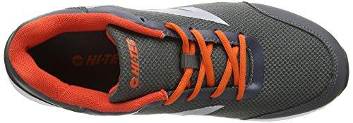 Hi-tec Heren Pajo Lage Top Veter Running Sneaker Houtskool / Oranje