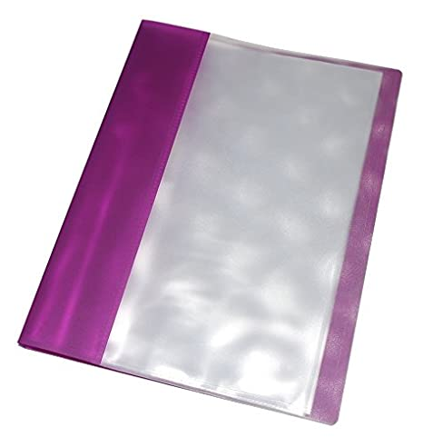 A4 Pantalla libro - morado - 30 bolsillos - plástico carteras bolsillos - presentación cartera: Amazon.es: Oficina y papelería