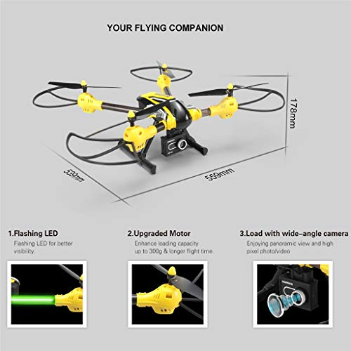 MOZATE KAIDENG K70 HD Camera 6 Axis Gyro Altitude Hold Mode 3D Flip Roll RC Quadcopter (Yellow) by MOZATE (Image #2)
