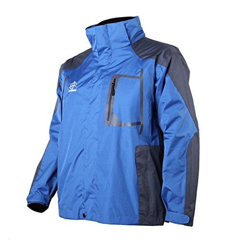 sunnyluck Double Skin Beheizte Jacke Coat Akku schnurlose Verstellbare wasserdichte blau