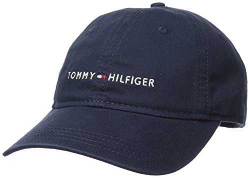 - Tommy Hilfiger Men's Logo Dad Baseball Cap, Tommy Navy, One Size