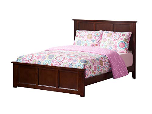 Walnut Double Bed - Atlantic Furniture AR8636034 Madison Traditional Bed with Matching Foot Board, Full, Walnut