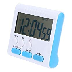 Fiesta Multi-Function Kitchen Timer Electric LCD Digital Timer Count Up Down Alarm Clock Cooking Tools: Blue