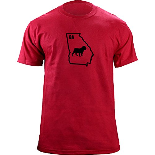 Original I Bulldog Georgia Classic Style T-Shirt (2XL, Red-Variant)