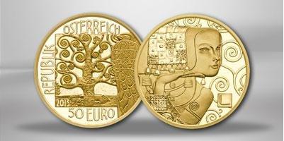 "AUSTRIA 50 Gold Euro Coin "" Series Klimt and his women - The Expectation / Die Erwartung "" 2013"