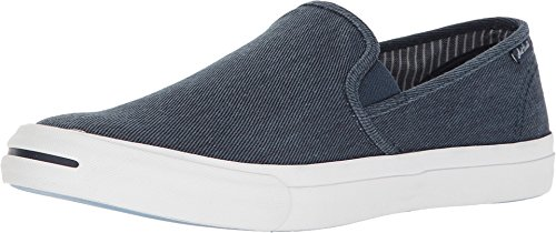 (Converse Jack Purcellr II Slip Navy Washed Twill Shoes Men's 11)