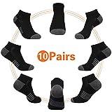 Eallco 10 Pairs Mens Ankle Socks Low Cut Athletic