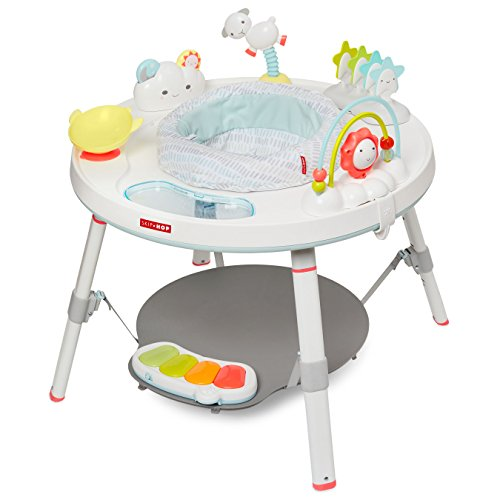 Skip Hop Baby's View 3-Stage Activity Center, Silver Lining Cloud, 4m+